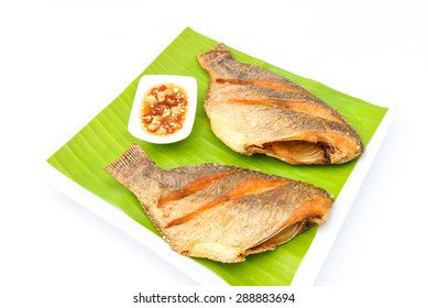 Fried red tilapia fish with spicy sauce