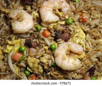 Fried Rice Background  & Close-up