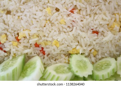 fried rice with cucumber