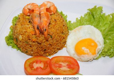fried rice with egg and shrimp