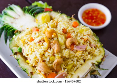 Fried rice in pineapple