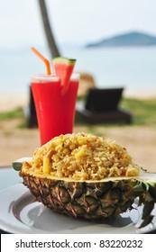 fried rice pineapple
