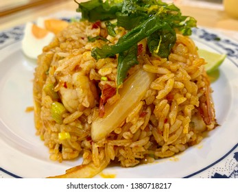 Fried rice with spicy seafood ingredients call Khao Pha's Tomyum Thalae, Thai food.