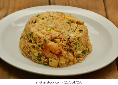 Fried rice, Thai food presented on a plate