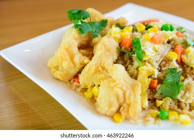 Fried rice thai style at restaurant in America