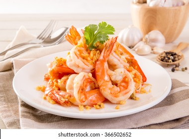 Fried Shrimp with garlic pepper