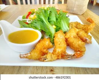 Fried shrimp salad, Thailand? food