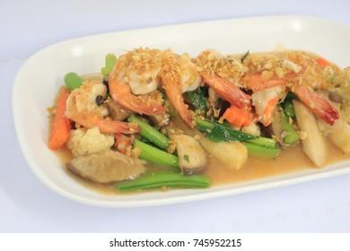 Fried Shrimp with Vegetables