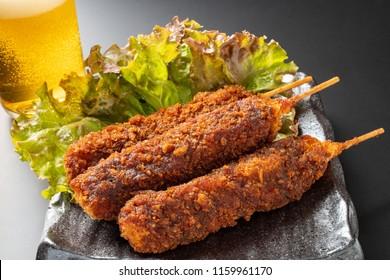 Fried skewers of miso taste