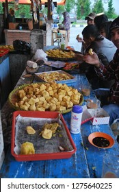 fried snack at warung or coffee shop in dieng central java, indonesia. photo taken in may 2011