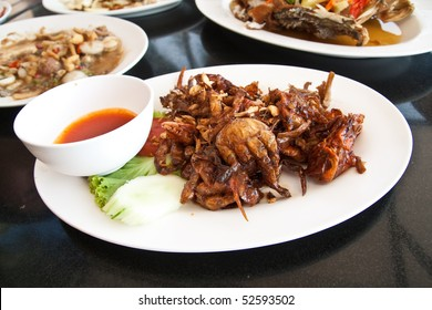 fried soft crab, thailand