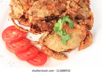 The Fried soft shell crab