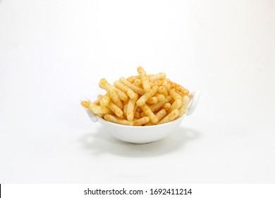Fried and Spicy Stick, Sali Sev, noodles, Snacks or Fryums (Snacks Pellets) fryums
