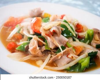 fried sunfish's  intestines