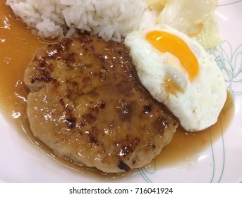 FRIED SWEET SAUCE PORK WITH EGG AND RICE