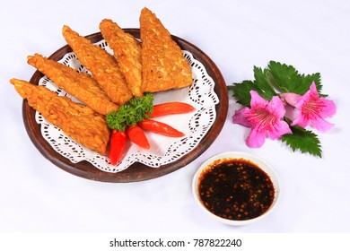 fried tempe. indonesian traditional food