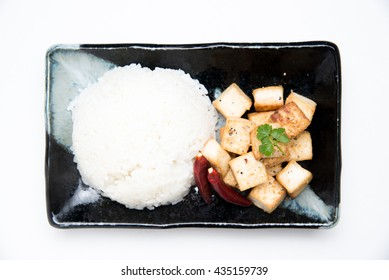 fried tofu with rice