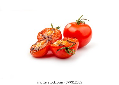 fried tomatoes on grill