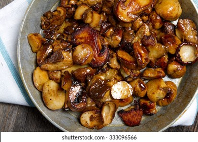 Fried wild mushrooms