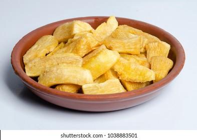 Fried yucca (cassava). Brazilian snack.