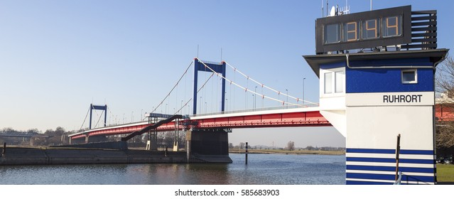 friedrich ebert bridge duisburg germany