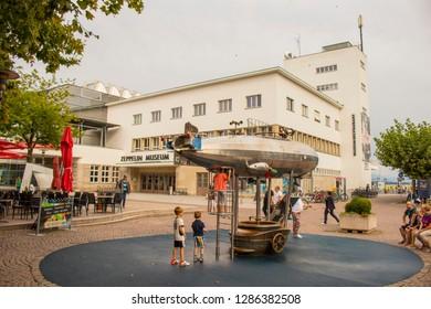Friedrichshafen, Bodenseekreis, Baden-Württemberg, Germany - August 12 2018: German Zeppelin Museum