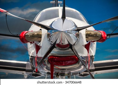 Friedrichshafen, Germany, April 8th 2014: The TBM 900 was presented for the first time in Europe at the AERO 2014 in Friedrichshafen.