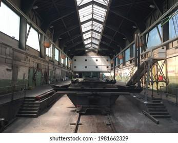 Friedrichshafen, GERMANY - August 14, 2018 A shipyard in Friedrichshafen on Lake Constance