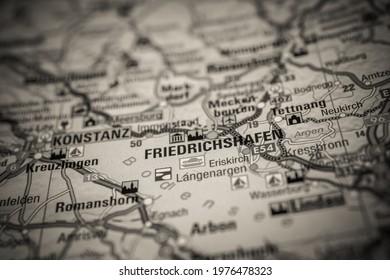 Friedrichshafen on the Europe map