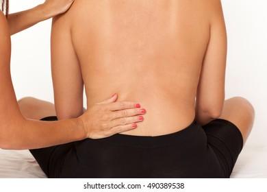 Friend giving a massage
