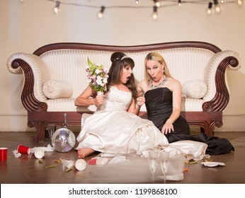 Friend shocked by angry bride at a wedding