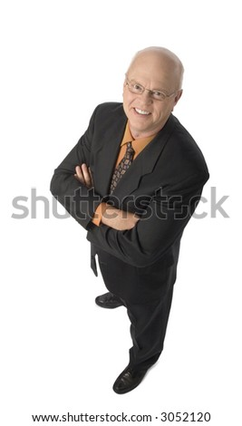 Friendly Businessman Standing Arms Crossed Stock Photo Edit