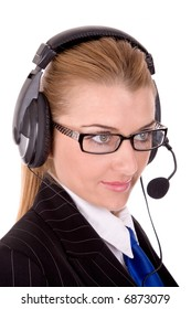 Friendly call service agent.