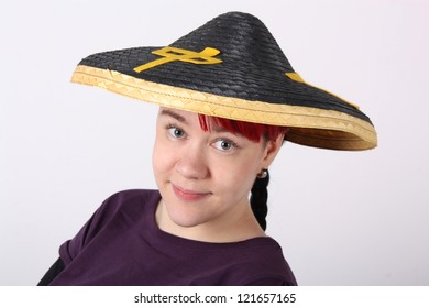 Friendly Girl with asia hat