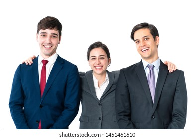 Friendly group of businessperson. Teamwork of business concept.
