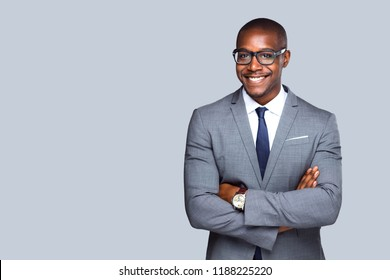 Friendly isolated portrait of african american business man, sales, representative