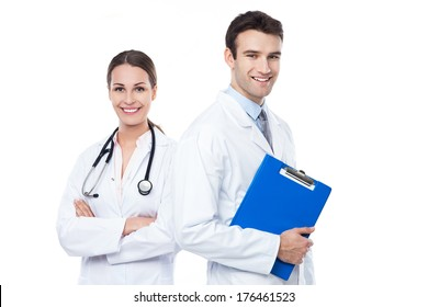Friendly Male and Female Doctors