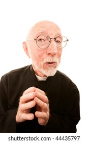 Friendly Priest or Pastor on a White background