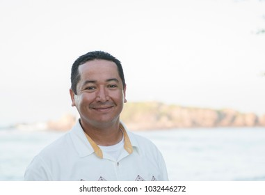 Friendly, Smiling, Mexican Man Working at a Resort in Mexico