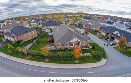 Friendly subdivision neighborhood Aerial