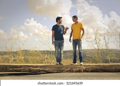 Two Friends Speaking Images Stock Photos Vectors Shutterstock Two Friends
