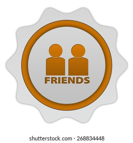 Friends circular icon on white background