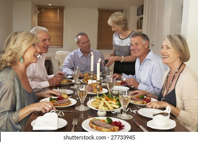 Friends At A Dinner Party