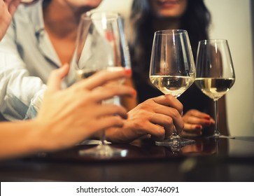 friends drinking together