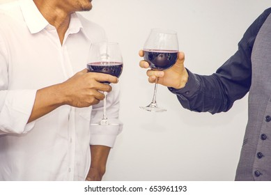 Friends drinking wine in party, Celebrate  and Congratulation a new job.