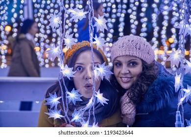 Friends Enjoying Christmas Market
