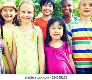 Friends Friendship Happiness Children Child Childhood  Concept