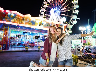 Friends Hangout Carnival Huddle Fun Smiling Concept