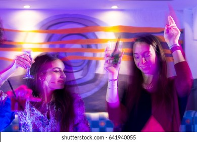 Friends have fun at the disco
