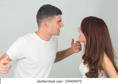 Friends having argument and yelling each other.